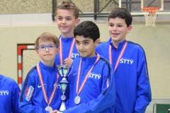 U 13 Team Burschen 2.Platz-Felix Dostal, Leo Blersch, Husein Salimov, Alexander Dür