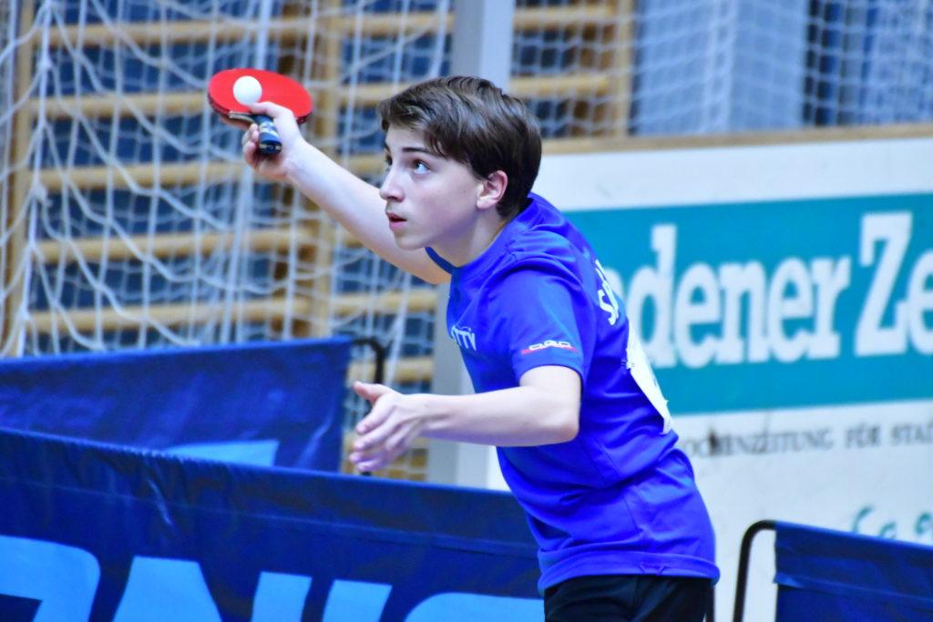 Florian Bichler Top Nachwuchsspieler des UTTC Salzburg
