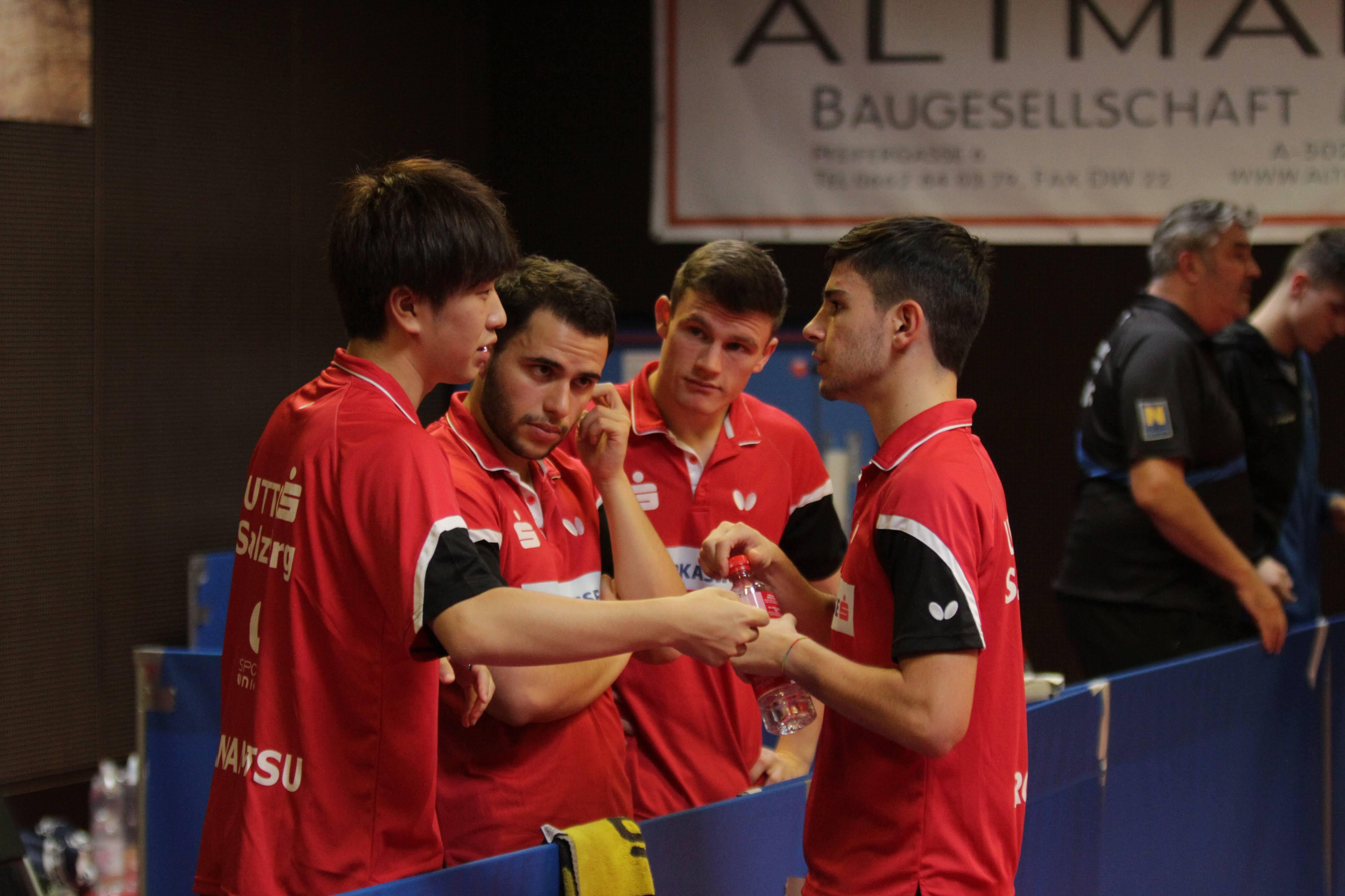Das Team UTTC 2 beim Coachen