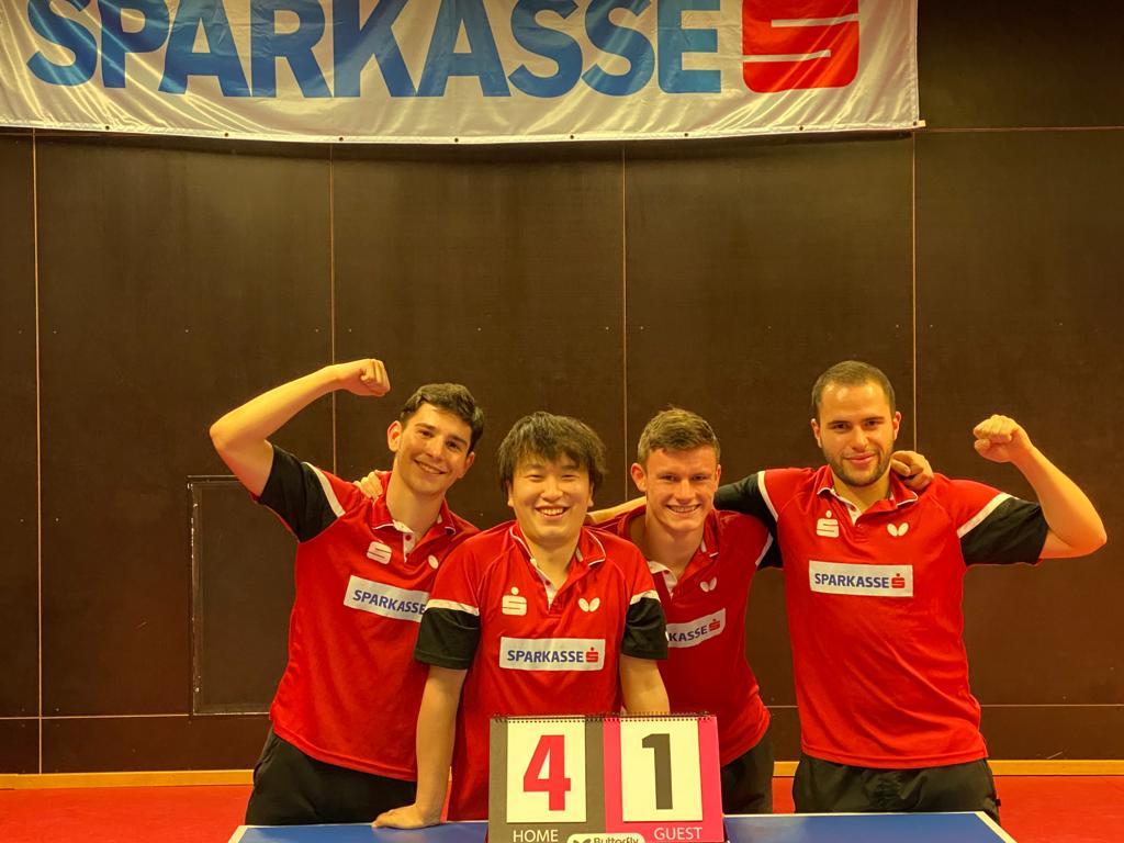 UTTC Salzburg 1 nach dem Sieg gegen die SPG Linz